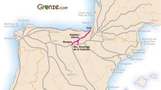 Mapa del Camino Vasco del Interior