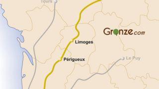 Mapa del Camino de Vézelay - Vía Lemovicense