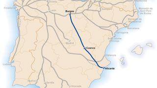 Mapa de la Ruta de la Lana