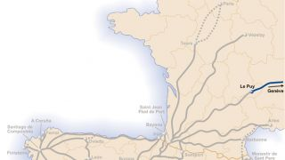 Mapa de la Vía Gebennensis
