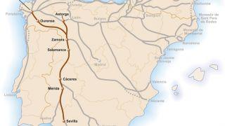 Mapa de la Vía de la Plata