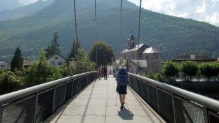 Cruzando el Rhône a la entrada a Massongex