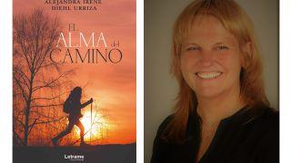 Portada del libro y su autora, Alejandra Diehl