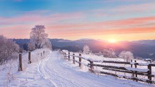 Nieve en el Camino de Santiago por Francia