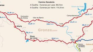 Tramo A Gudiña - Ourense por el Camino Sanabrés o Vía de la Plata