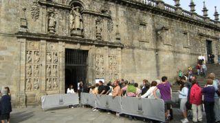 Puerta Santa, catedral de Santiago de Compostela, año 2010