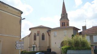 Iglesia y arco, Monferran-Savès