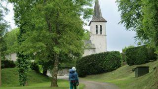 Peregrina llegando a Montsérié