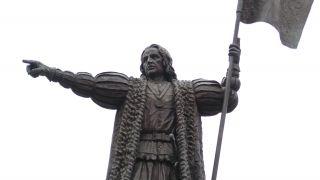 Monumento a Colón en el centro de Huelva
