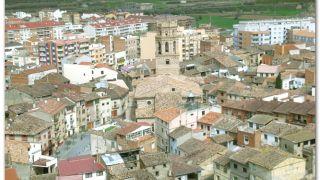 La catedral de Monzón, desde el castillo