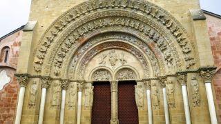 Portada de la iglesia de Sainte-Foy, Morlaàs