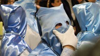 Nazarenos en la Semana Santa de Valladolid