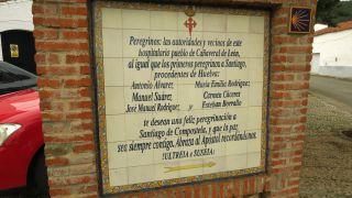 Homenaje a los peregrinos en Cañaveral de León