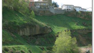 Río Alcanadre, a la salida de Pertusa