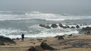 Un día gris en la playa de A Ver-o-Mar