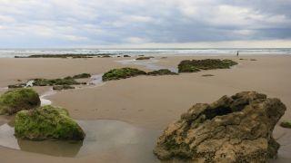 La playa de Gerra en marea baja