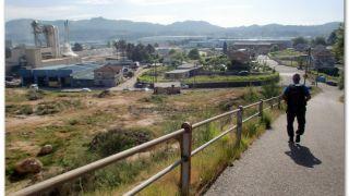 Bajando al polígono industrial de As Gándaras, O Porriño