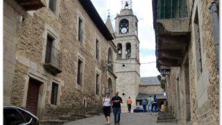 Calle de la Rúa e iglesia de Nuestra Señora de Azogue, Puebla de Sanabria