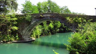 Antiguo puente sobre la Gave de Pau, Lestelle-Bétharram