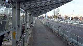 Pasando el puente levadizo en Matosinhos