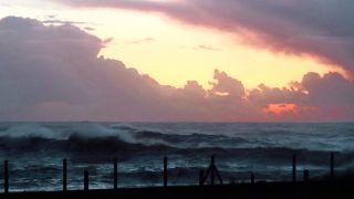 Puesta de sol en Porto Mougás