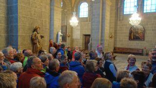 Bendición de peregrinos en la catedral de Le Puy