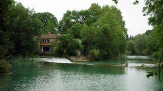 Río Lez y molino, Castelnau-le-Lez