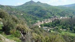 Vista de Saint-Gervais-sur-Mare desde el Camino