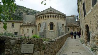 Cabecera de la iglesia de Saint-Guilhem-le-Désert