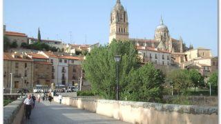 Catedral Vieja desde el puente romano, Salamanca
