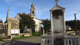 Capilla y cementerio en San Xoán de Alba