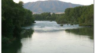 Río Aragón, a la salida de Sangüesa