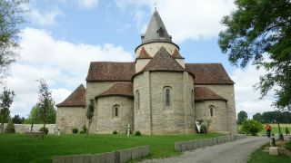 Cabecera de la iglesia románica abacial de Sauvelade