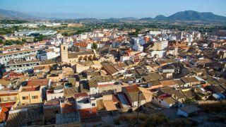 Ciudad de Sax desde el castillo