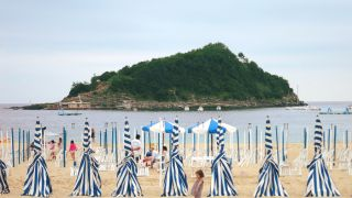 Playa de la Concha e isla de Santa Clara, San Sebastián