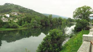 El río Sil a su paso por O Barco de Valdeorras