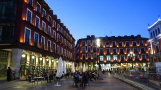 Terrazas en la plaza Mayor de Valladolid