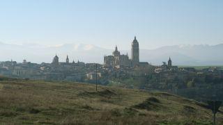 Vista de Segovia desde la cuesta a Zamarramala