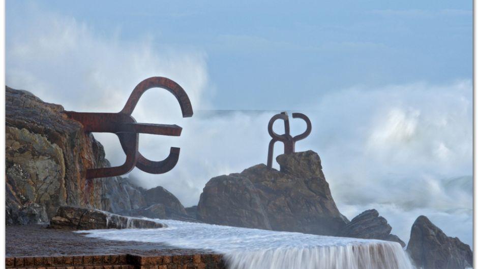 """Esculturas """"Peine del Viento"""", San Sebastián"""