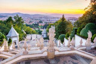 Braga desde el santuario del Bom Jesus do Monte