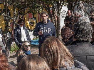Óscar Miguel en el albergue de peregrinos de Porto
