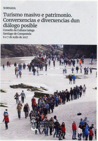 Cartel de las Jornadas sobre Turismo Masivo, celebradas en Santiago
