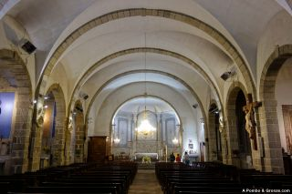 Interior de la iglesia de Nôtre-Dame de l'Assomption, Anglès
