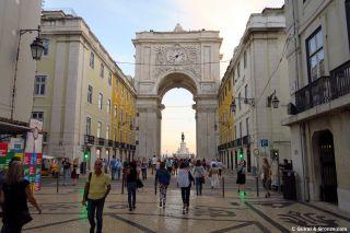 Arco de la rua Augusta y praça do Comércio