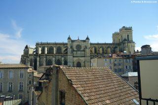 Catedral desde el albergue del presbytère, Auch