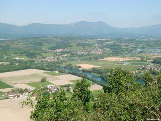 Vista desde los Balcones del Rhône, a la salida de Yenne