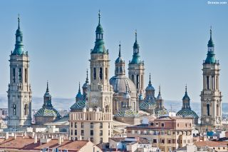 Basílica del Pilar desde la torre de la iglesia de San Pablo, Zaragoza