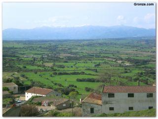 Vista de la comarca del Somontano desde Berbegal