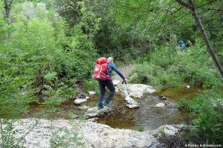 Cruce del río Merdanson, de camino a Usclas-du-Bosc