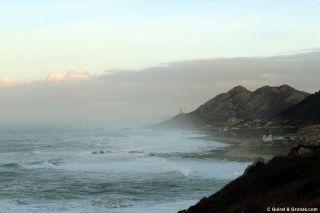 Cabo Silleiro y costa de As Mariñas desde Pedra Rubia